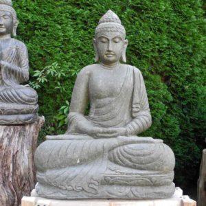 frostharte Garten Buddhas aus grünem Lavastein