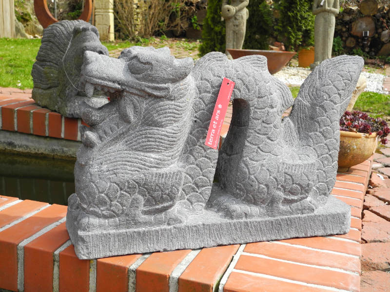 Drache Gartenfigur Stein