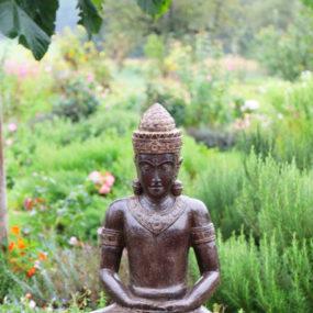 Buddhafigur Khmer Stein