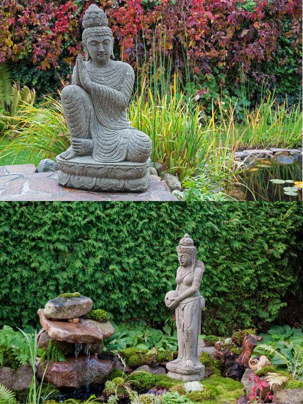 Buddha träumend Dewi Wasserspeier