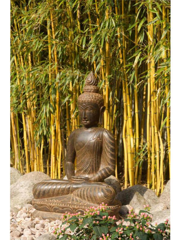 Buddhafigur Bambus
