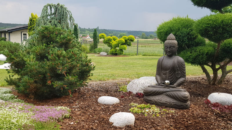 Buddhafigur Garten Zen