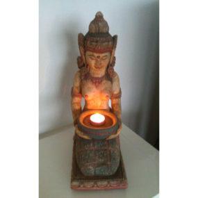 Dewi Figur mit Schale bunt