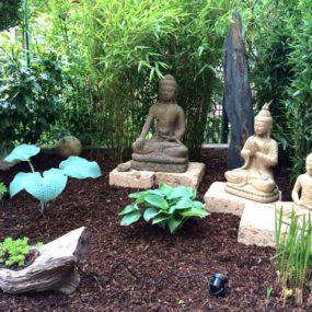 Steinguss Buddhas