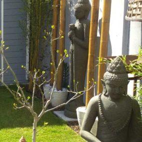 Lavastein Buddha Figuren
