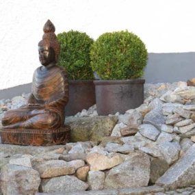 Fluss Stein Buddha