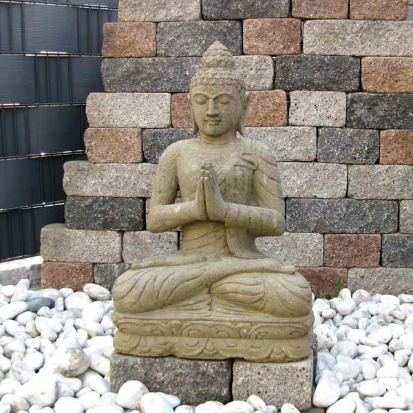 Steinbuddha Grussgeste