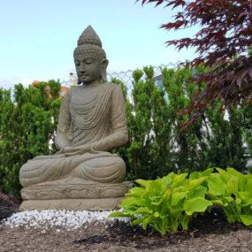 Garten Buddha sitzend