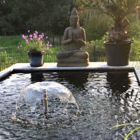 Buddhafigur am Pool