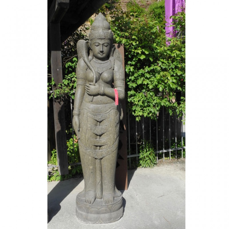 Grosse Dewi Sri Bali Reisgöttin grüner Lavastein 200 cm