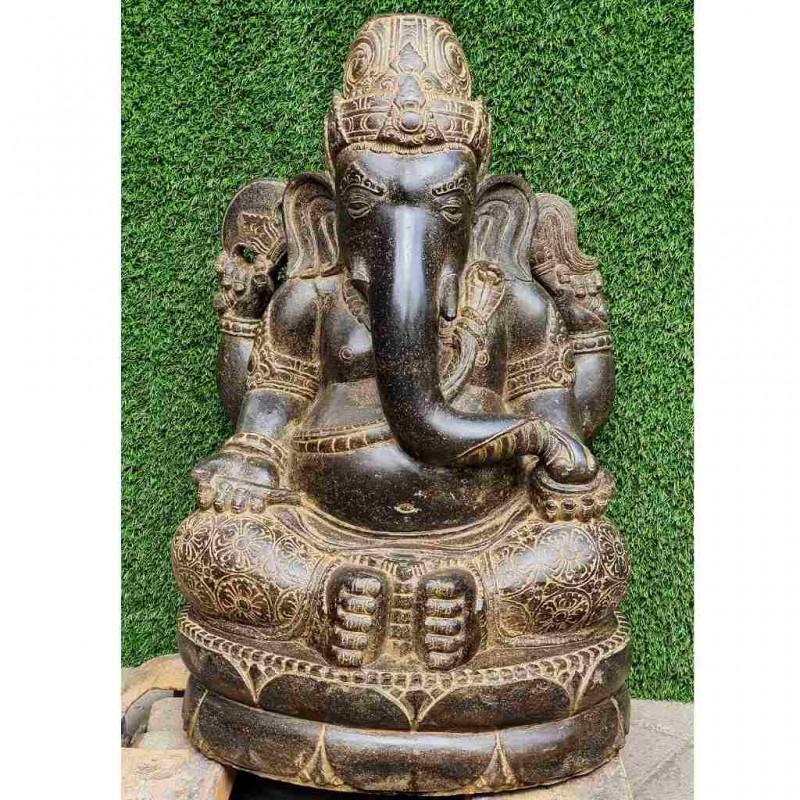 Edler Fluss Stein Ganesha 80 cm
