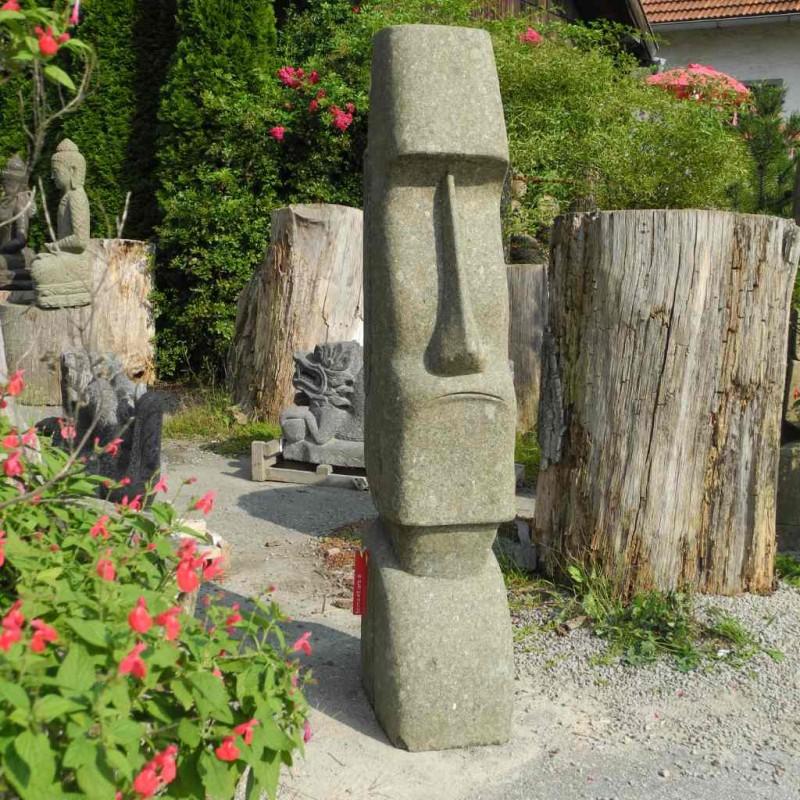 Große Tiki Osterinsel Figur grüner Lavastein 150 cm