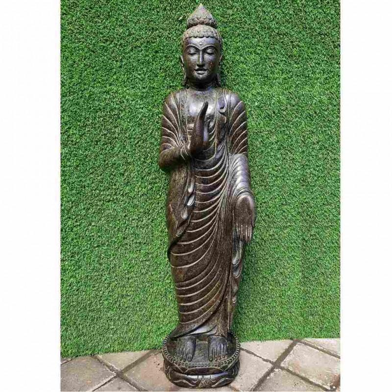 Eleganter Gandhara Buddha Fluss Stein 130 cm