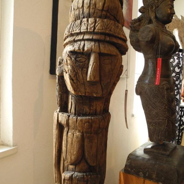 Holzskulptur Stammes Kunst ozeanisch indonesisch 160 cm